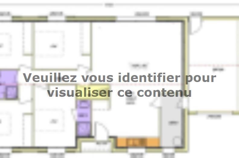 Plan de maison Avant-projet APREMONT - 103 m² - 4 chambres : Vignette 1