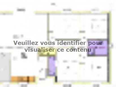 Plan de maison Avant-projet APREMONT - 103 m² - 4 chambres 4 chambres  : Photo 2
