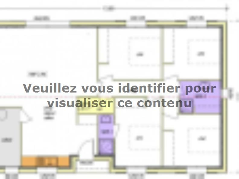 Plan de maison Avant-projet APREMONT - 103 m² - 4 chambres : Vignette 2