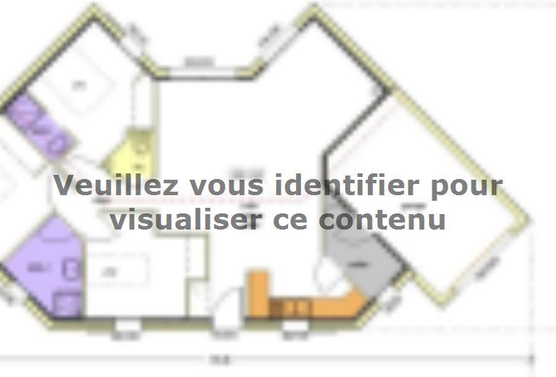 Plan de maison Avant-projet MALLEZAIS - 90 m² - 3 chambres : Vignette 1