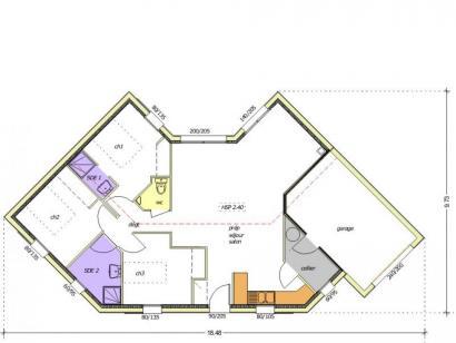 Plan de maison Avant-projet LA MOTHE ACHARD - 83 m² - 3 chambres 3 chambres  : Photo 1