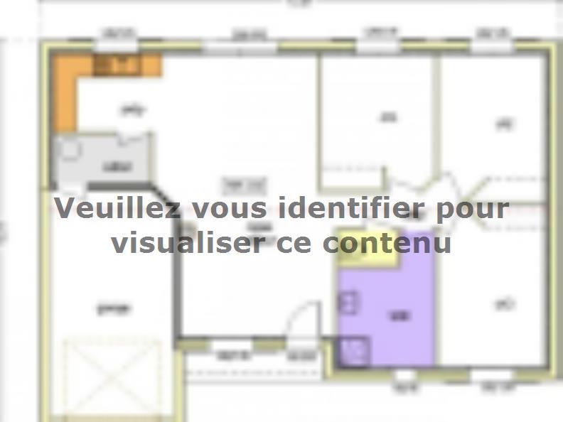 Plan de maison Avant-projet MACHE - 84 m² - 3 chambres : Vignette 2