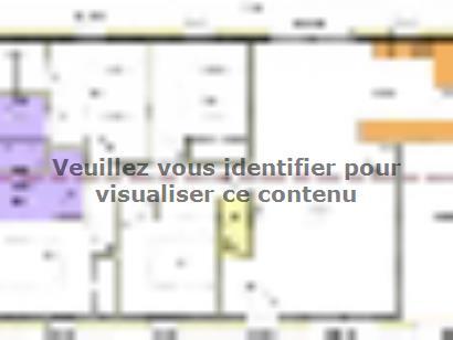 Plan de maison Avant-projet TIFFAUGES - 103 m² - 4 chambres 4 chambres  : Photo 2