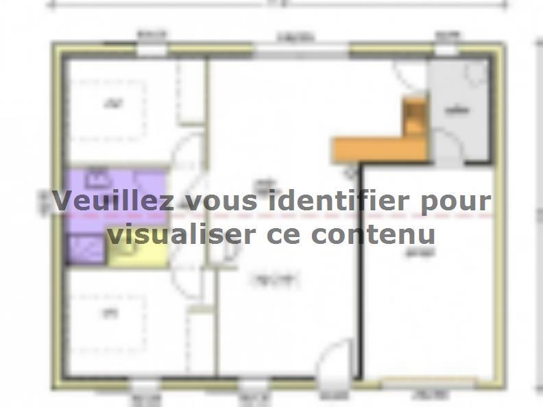 Plan de maison Avant-projet MAREUIL SUR LAY - 65 m² - 2 chambres : Vignette 1