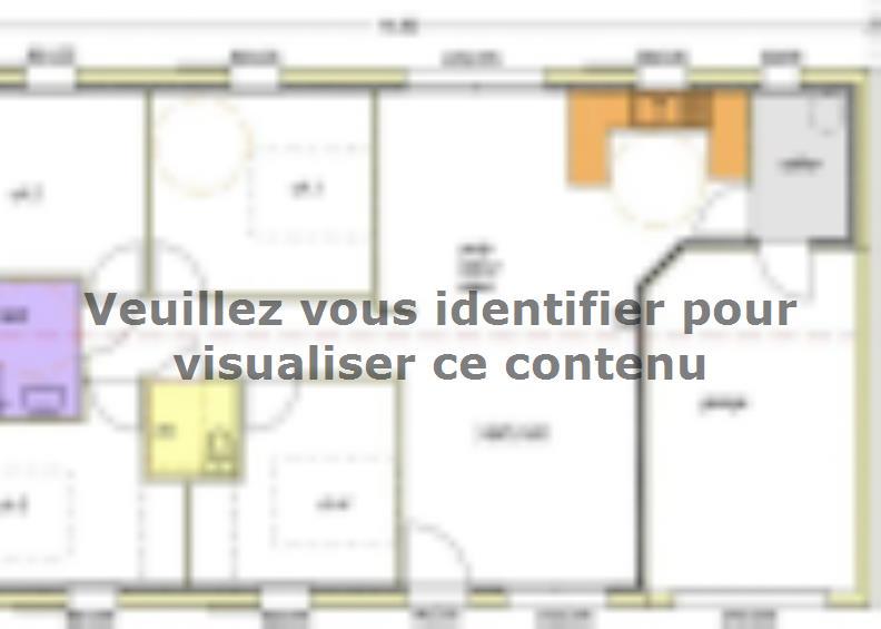 Plan de maison Avant projet NIORT  89 m² - 4 chambres : Vignette 1