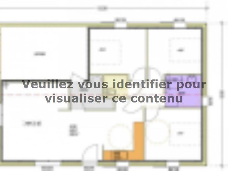 Plan de maison Avant-projet ST JULIEN DES LANDES - 80 m² - 3 cham : Vignette 1