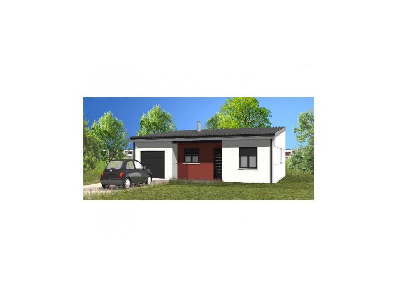 Modèle de maison Avant-Projet GROSBREUIL - 72 m² - 2 chambres : Vignette 1
