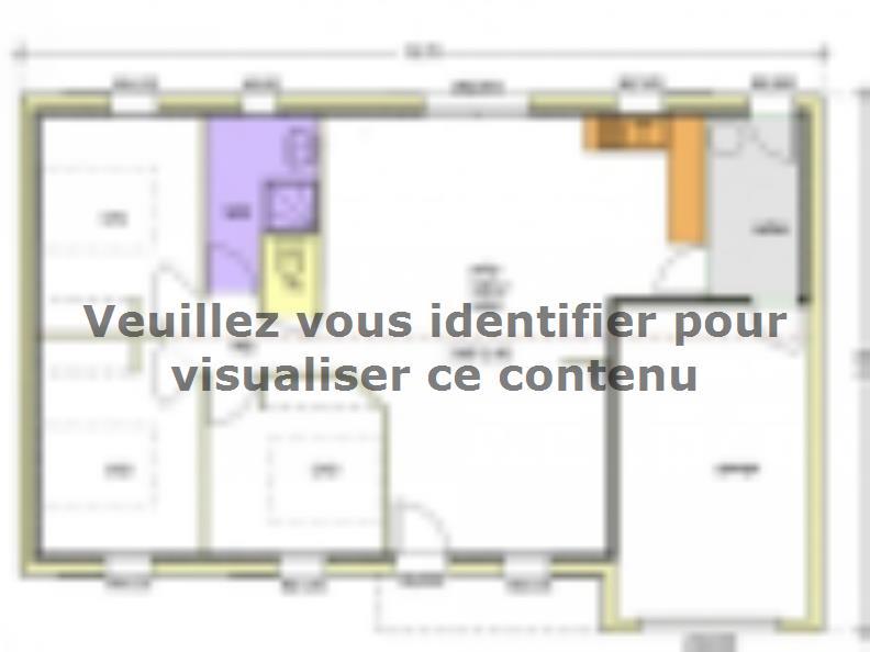Plan de maison Avant-Projet AIZENAY  81 m² - 3 chambres : Vignette 1
