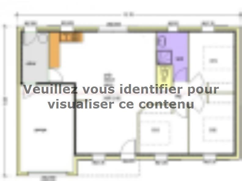 Plan de maison Avant-Projet AIZENAY  81 m² - 3 chambres : Vignette 2