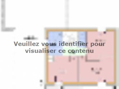 Plan de maison PERCE NEIGE C2G-109 4 chambres  : Photo 2
