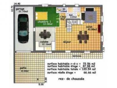 Plan de maison VIGNEMALE  : Photo 2