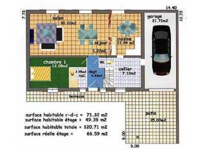 Plan de maison VIGNEMALE  : Photo 3