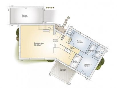 Plan de maison Diamant 145 Elegance 3 chambres  : Photo 1