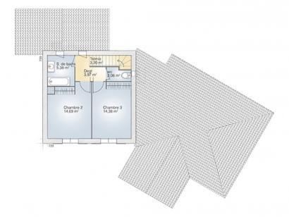 Plan de maison Diamant 145 Tradition 4 chambres  : Photo 2