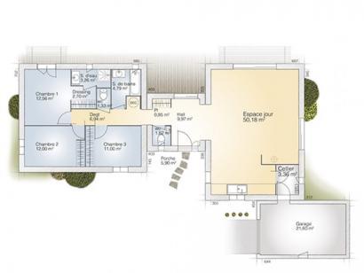 Plan de maison La Villa 120 Design 3 chambres  : Photo 1