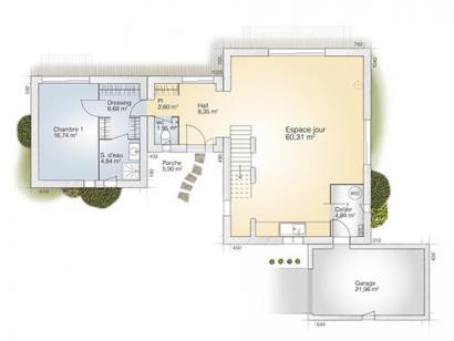 Plan de maison La Villa 170 Design 4 chambres  : Photo 1