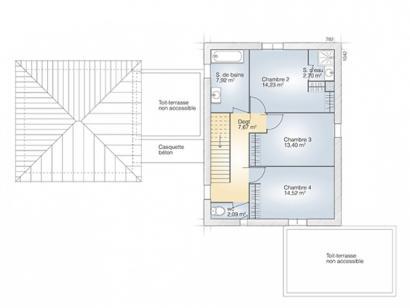 Plan de maison La Villa 170 Elégance 4 chambres  : Photo 2