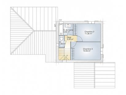 Plan de maison Aigue-Marine 105 Tradition 3 chambres  : Photo 2