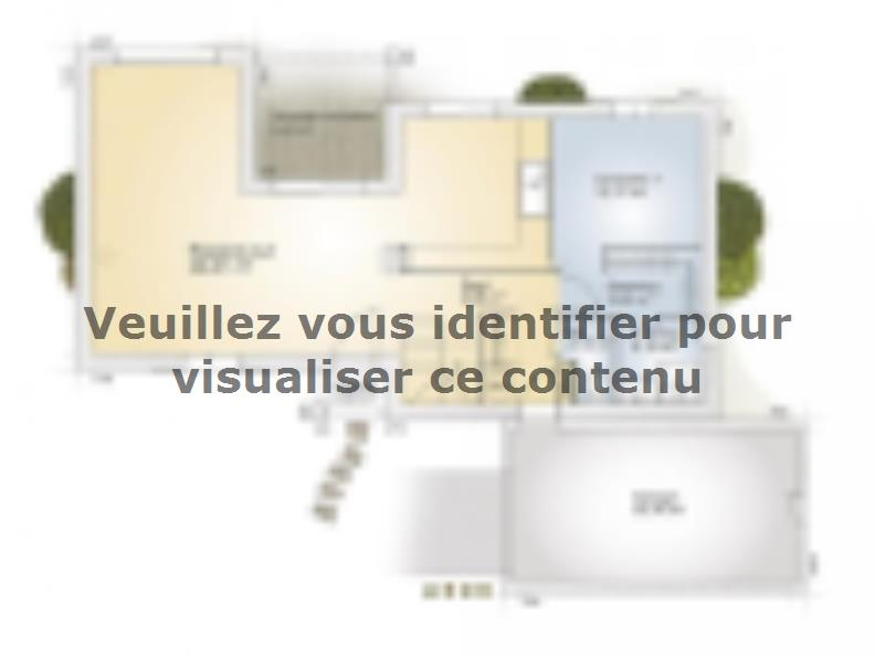 Plan de maison Aigue-Marine 125 Tradition : Vignette 1