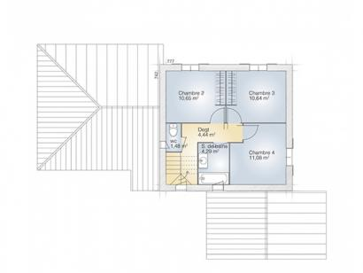 Plan de maison Aigue-Marine 125 Tradition 4 chambres  : Photo 2