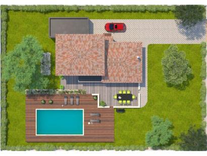 Modèle de maison Aigue-Marine 145 Elégance 5 chambres  : Photo 2