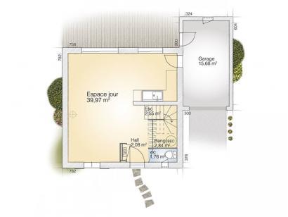 Plan de maison Jade GA 95 Elégance 3 chambres  : Photo 1
