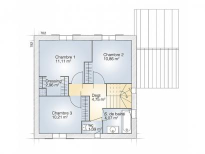 Plan de maison Jade GA 95 Elégance  : Photo 2