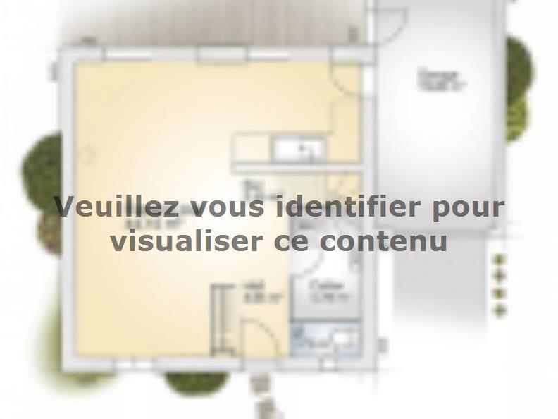 Plan de maison Jade GA 110 Elégance : Vignette 1