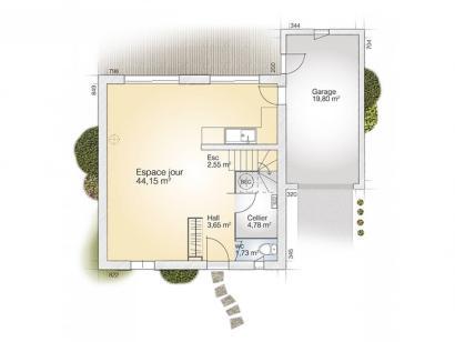 Plan de maison Jade GA 110 Tradition  : Photo 1