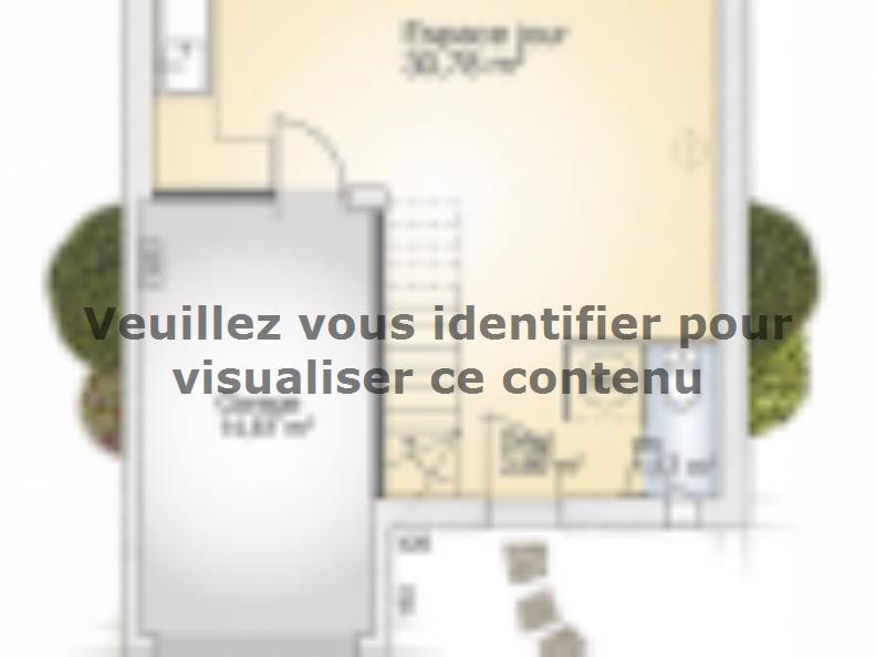 Plan de maison Jade G 83 Elégance : Vignette 1