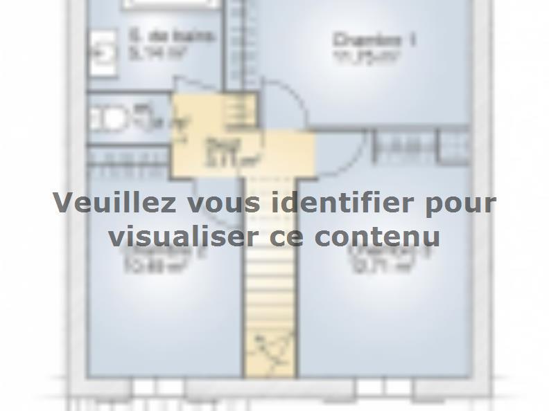 Plan de maison Jade G 83 Elégance : Vignette 2