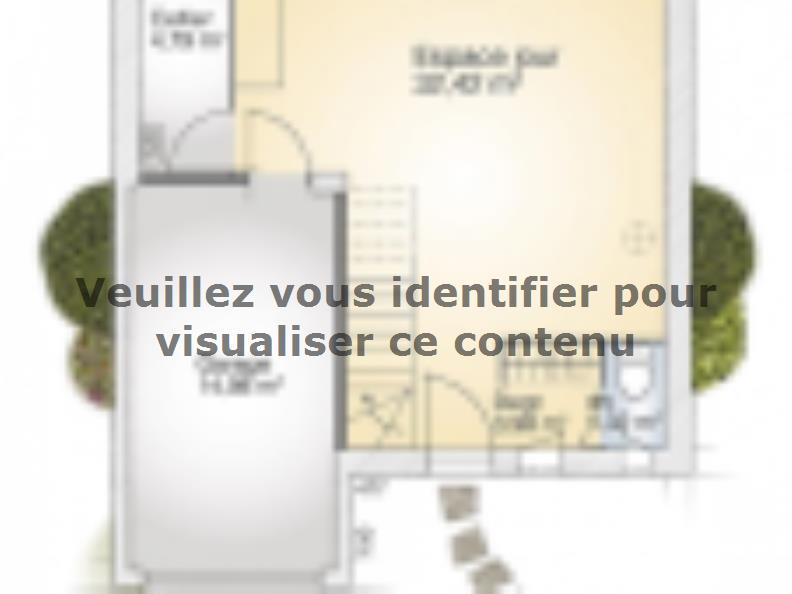 Plan de maison Jade G 95 Elégance : Vignette 1