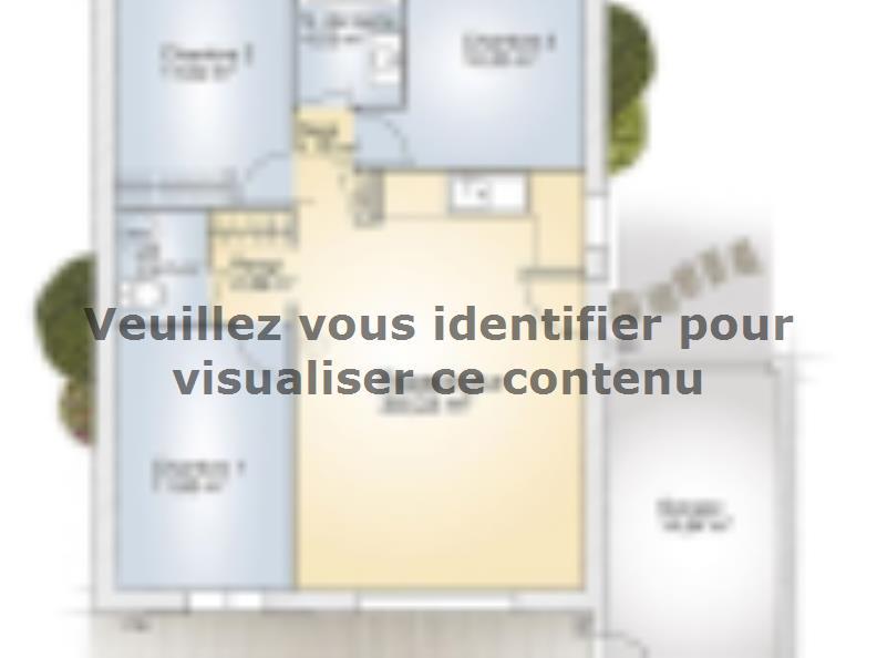 Plan de maison Opale GA 73 P Elégance : Vignette 1