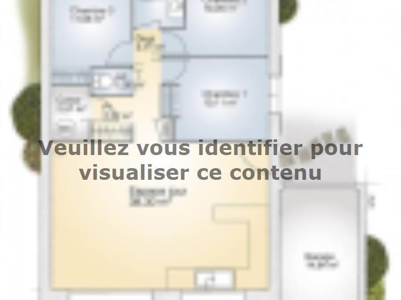 Plan de maison Opale GA 83 P Elégance : Vignette 1