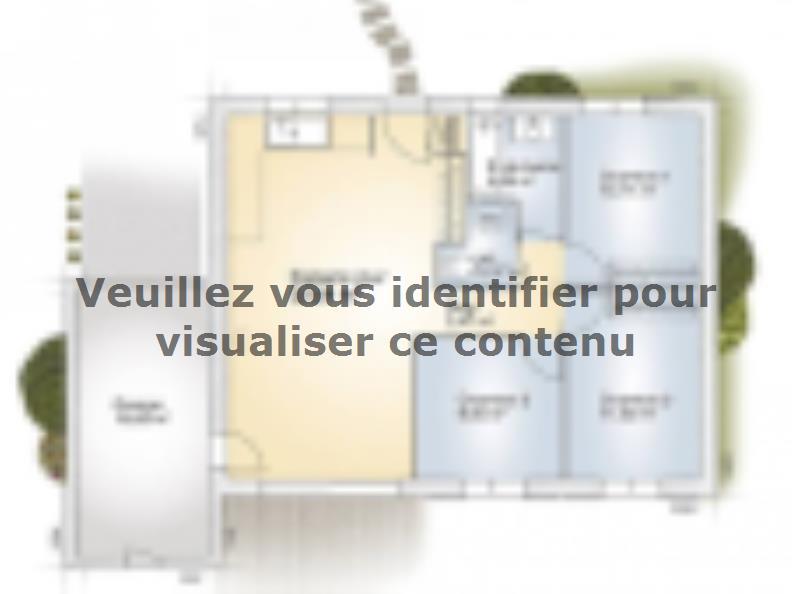 Plan de maison Opale GA 73 F Elégance : Vignette 1