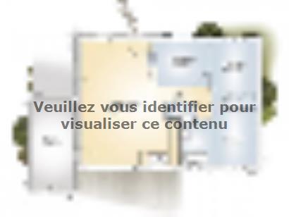 Plan de maison Opale GA 83 F Elégance 3 chambres  : Photo 1