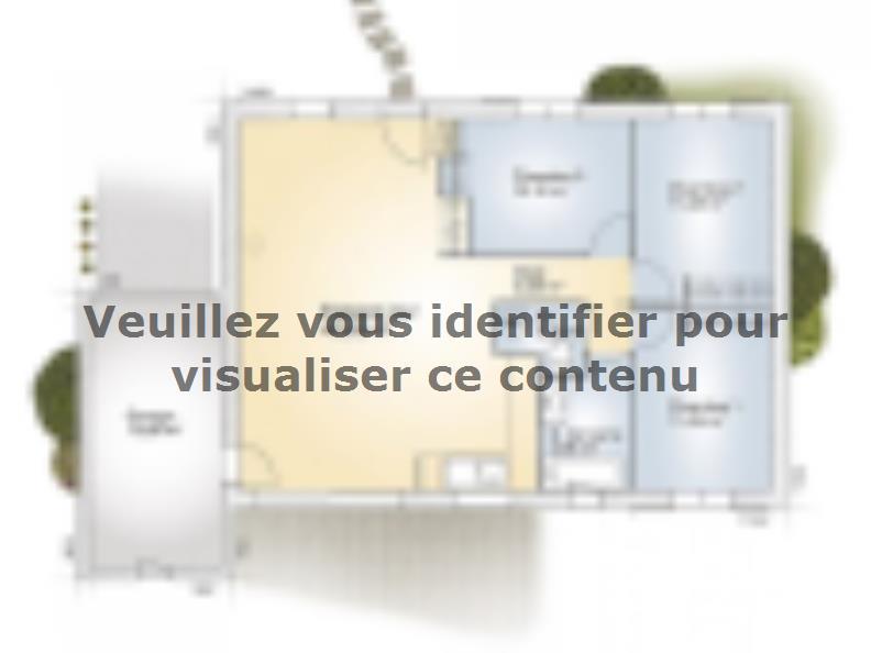 Plan de maison Opale GA 83 F Elégance : Vignette 1