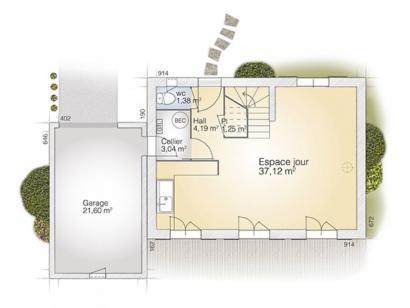 Plan de maison Saphir 95 Elégance  : Photo 1