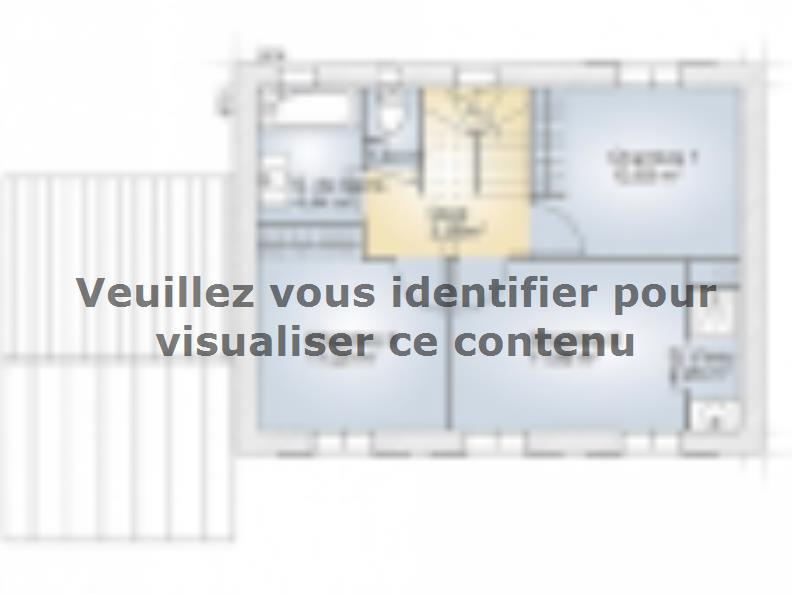 Plan de maison Saphir 95 Elégance : Vignette 2
