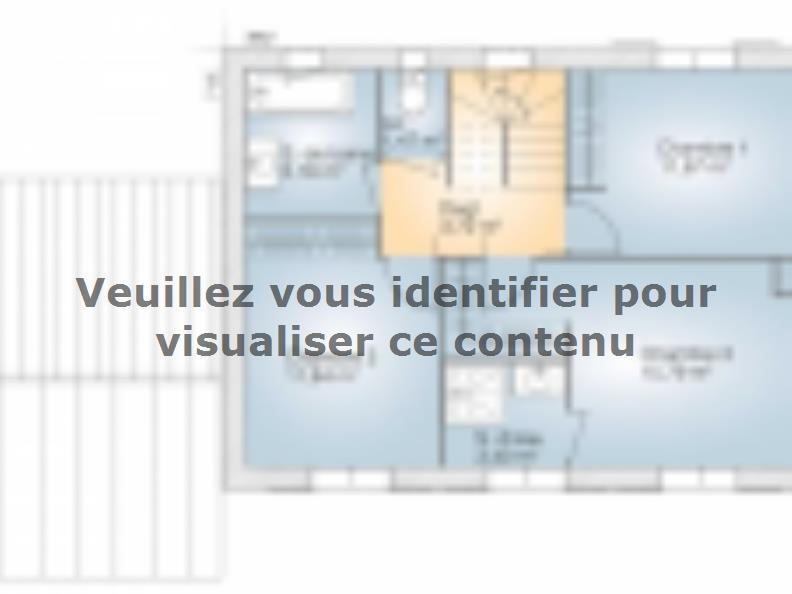 Plan de maison Saphir 110 Elégance : Vignette 2