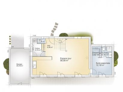 Plan de maison Saphir 140 Tradition 5 chambres  : Photo 1