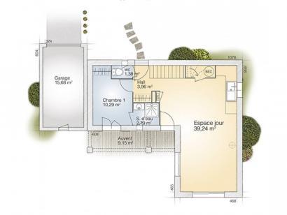 Plan de maison Tourmaline 90 Tradition 3 chambres  : Photo 1