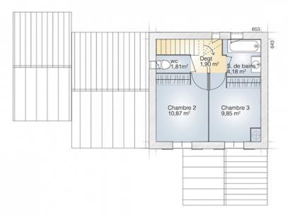 Plan de maison Tourmaline 90 Tradition 3 chambres  : Photo 2