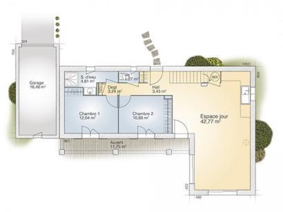 Plan de maison Tourmaline 110 Tradition 4 chambres  : Photo 1