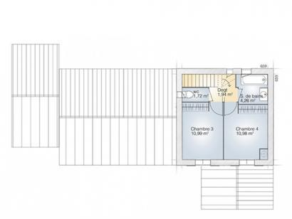 Plan de maison Tourmaline 110 Tradition 4 chambres  : Photo 2
