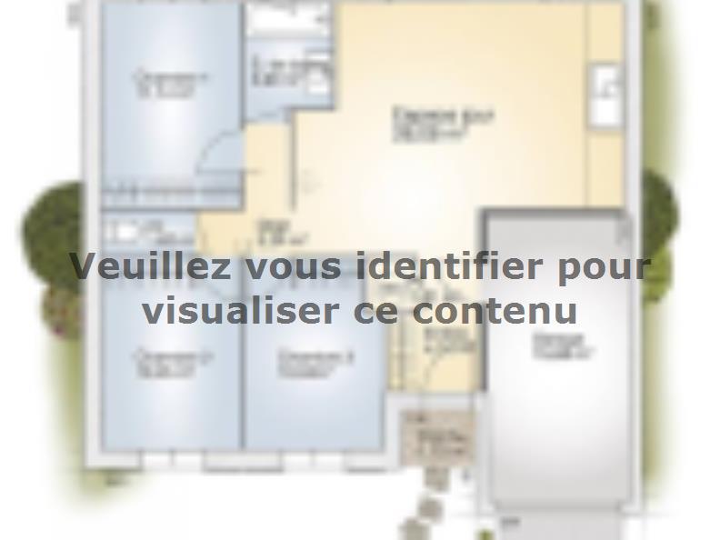 Plan de maison Opale G 73 P Elégance : Vignette 1