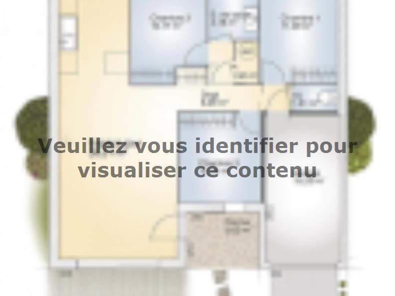 Plan de maison Opale G 83 P Elégance : Vignette 1