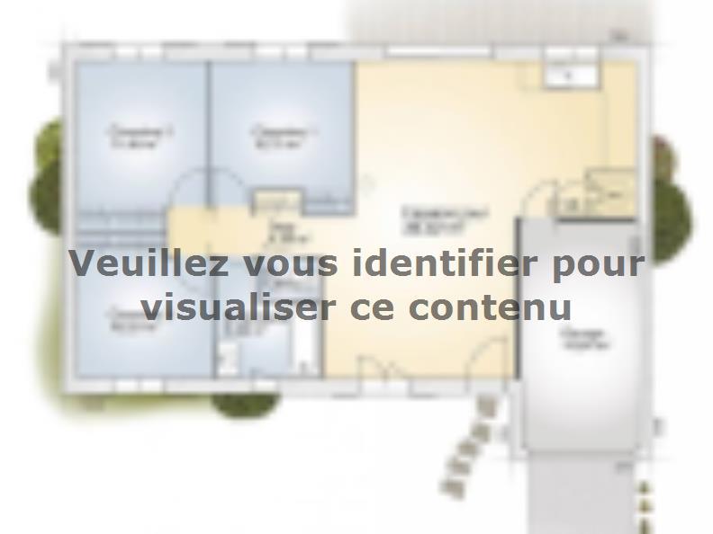 Plan de maison Opale G 83 F Elégance : Vignette 1