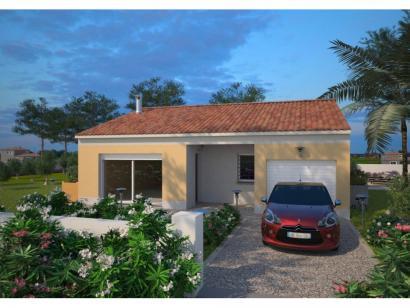 Modèle de maison Opale G 83 F Elégance 3 chambres  : Photo 1
