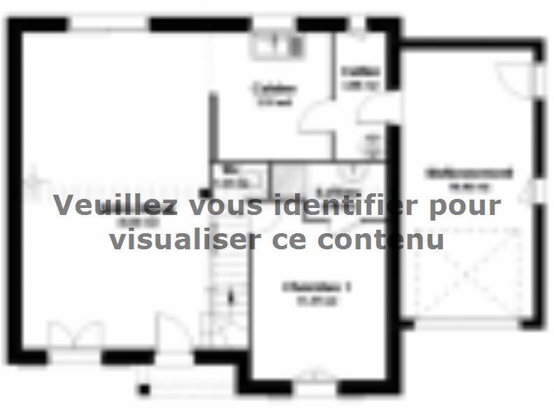 Plan de maison Maison Traditionnelle - Tradi1 : Vignette 1
